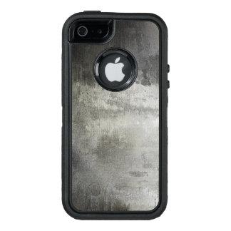 Coque OtterBox iPhone 5, 5s Et SE texturisé noir et blanc grunge abstrait d'art