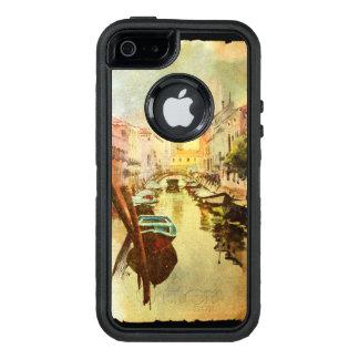 Coque OtterBox iPhone 5, 5s Et SE Une vue du canal avec des bateaux et des bâtiments