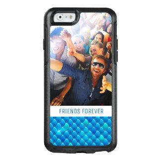 Coque OtterBox iPhone 6/6s Ajoutez vos échelles de poissons bleues au néon de