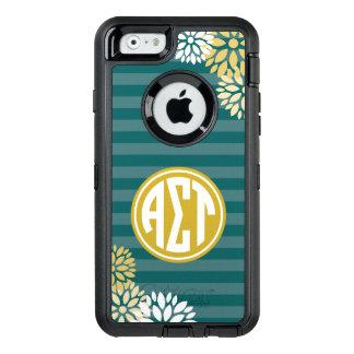 Coque OtterBox iPhone 6/6s Alpha motif de rayure de monogramme de Tau | de