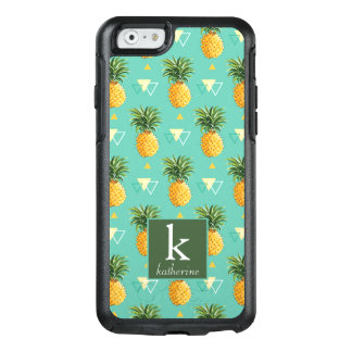 Coque OtterBox iPhone 6/6s Ananas lumineux sur le monogramme géométrique du
