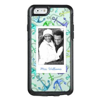 Coque OtterBox iPhone 6/6s Ancres flottantes et motif | de corde votre photo