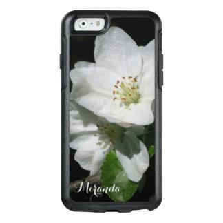 Coque OtterBox iPhone 6/6s Apple fleurissent - personnalisé avec le nom ou le