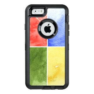 Coque OtterBox iPhone 6/6s arrière - plan coloré d'aquarelle pour votre