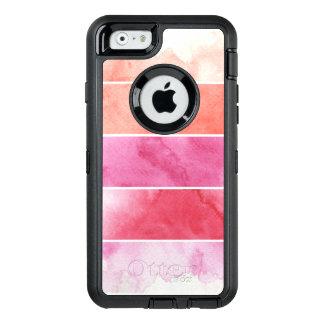 Coque OtterBox iPhone 6/6s arrière - plan de bannières d'aquarelle pour votre