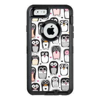 Coque OtterBox iPhone 6/6s arrière - plan d'illustration d'oiseau de pingouin