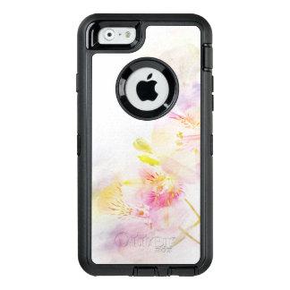 Coque OtterBox iPhone 6/6s arrière - plan floral avec des fleurs d'aquarelle