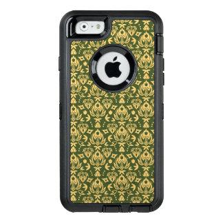 Coque OtterBox iPhone 6/6s Arrière - plan floral en bois de motif de damassé