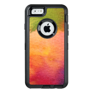 Coque OtterBox iPhone 6/6s Arrière - plan peint par aquarelle abstraite