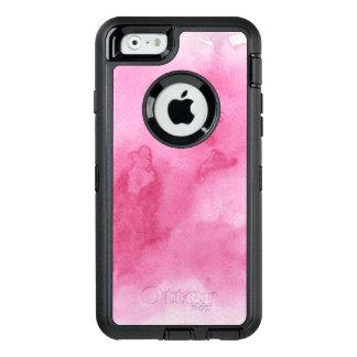 Coque OtterBox iPhone 6/6s arrière - plan rose d'aquarelle pour le votre