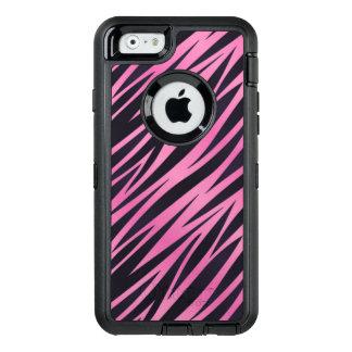 Coque OtterBox iPhone 6/6s Arrière - plan rose de rayure de zèbre