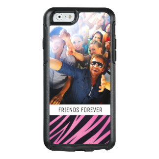 Coque OtterBox iPhone 6/6s Arrière - plan rose fait sur commande de rayure de