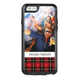 Coque OtterBox iPhone 6/6s Arrière - plan rouge fait sur commande de plaid de