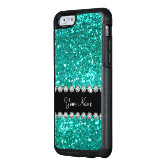 Coque OtterBox iPhone 6/6s Baisse nommée de Bling de Faux de turquoise