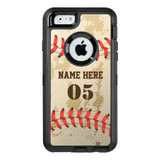 Coque OtterBox iPhone 6/6s Base-ball vintage frais clair Iphone 6 Otterbox