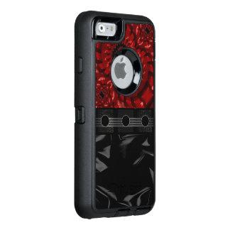 Coque OtterBox iPhone 6/6s Belle fractale rouge noire