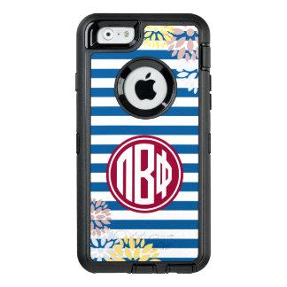 Coque OtterBox iPhone 6/6s Bêta motif de rayure de monogramme du phi | de pi
