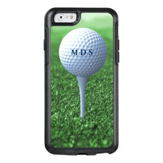 Coque OtterBox iPhone 6/6s Boule de golf sur le monogramme d'Otterbox d'herbe