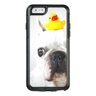 Coque OtterBox iPhone 6/6s Bouledogue français avec le canard en caoutchouc