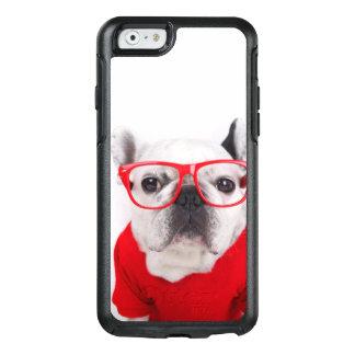 Coque OtterBox iPhone 6/6s Bouledogue français avec les verres et la chemise