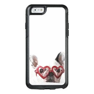 Coque OtterBox iPhone 6/6s Bouledogue français en verres de coeur