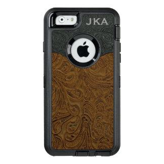 Coque OtterBox iPhone 6/6s Brown rustique a usiné le cuir personnalisé