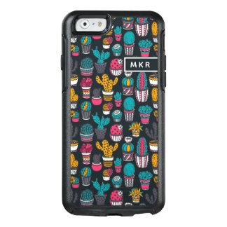 Coque OtterBox iPhone 6/6s Cactus tiré par la main dans le motif de style de