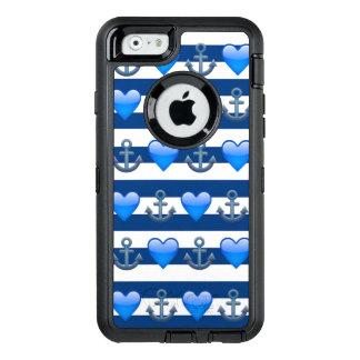 Coque OtterBox iPhone 6/6s Caisse bleue de l'iPhone 6/6s Otterbox d'Emoji