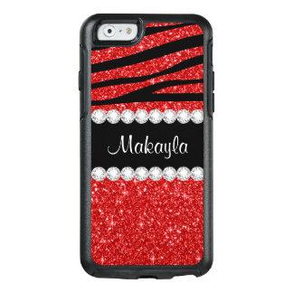 Coque OtterBox iPhone 6/6s Caisse rouge de l'iPhone 6/6s d'OtterBox de zèbre