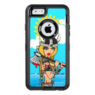 Coque OtterBox iPhone 6/6s Cas de défenseur de fille de Viking par