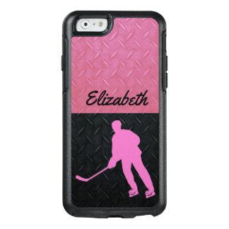Coque OtterBox iPhone 6/6s Cas de nom de l'hockey des femmes dures de rose et