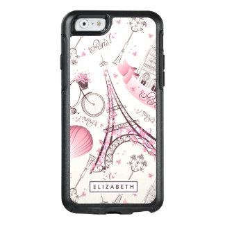 Coque OtterBox iPhone 6/6s Cas moderne d'OtterBox de Tour Eiffel rose frais