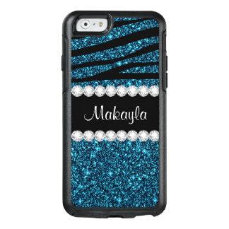Coque OtterBox iPhone 6/6s Cas turquoise de l'iPhone 6 d'Otterbox de zèbre de