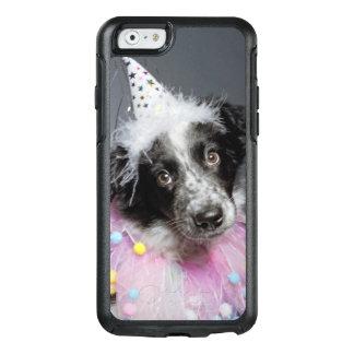 Coque OtterBox iPhone 6/6s Chapeau de port de chiot de border collie