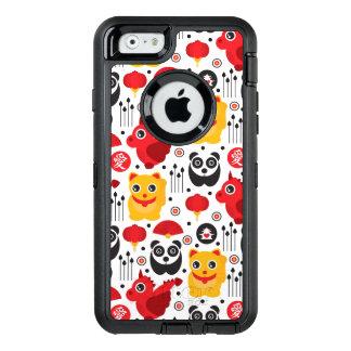 Coque OtterBox iPhone 6/6s Chat, dragon, et panda chanceux de la Chine
