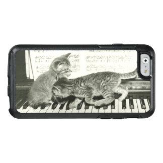 Coque OtterBox iPhone 6/6s Chaton deux jouant sur le clavier de piano, (B&W)