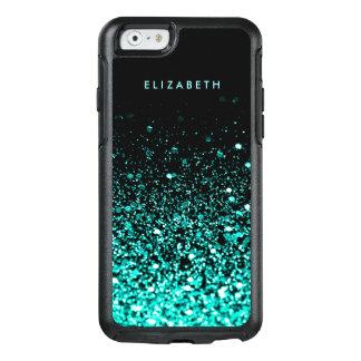 Coque OtterBox iPhone 6/6s Chic à la mode de noir de scintillement de vert