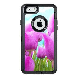 Coque OtterBox iPhone 6/6s Ciel bleu de tulipes féminines magenta légères