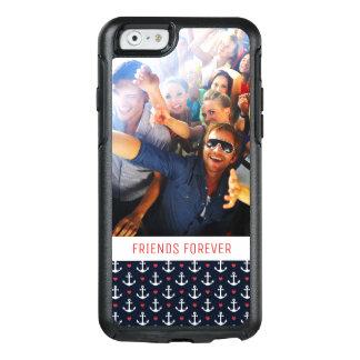 Coque OtterBox iPhone 6/6s Coeurs et motif | d'ancres votre photo et texte