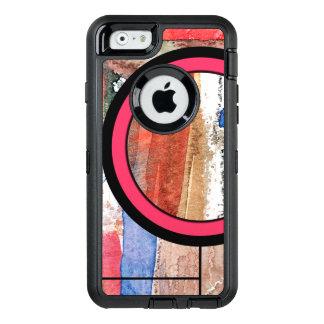 Coque OtterBox iPhone 6/6s collage d'art abstrait, médias mélangés et