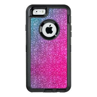 Coque OtterBox iPhone 6/6s Coloré lumineux floral bleu amorti de rose au néon