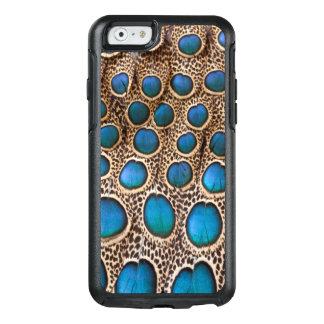 Coque OtterBox iPhone 6/6s conception de plume de Paon-faisan