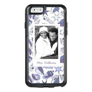 Coque OtterBox iPhone 6/6s Coquillages de Lavendar   votre photo et nom