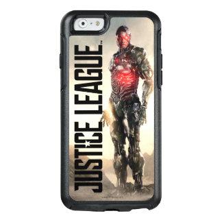 Coque OtterBox iPhone 6/6s Cyborg de la ligue de justice | sur le champ de