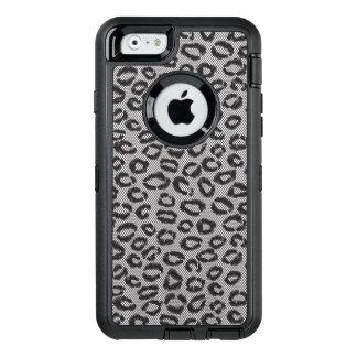 Coque OtterBox iPhone 6/6s Dentelle nette noire avec le motif de léopard sur