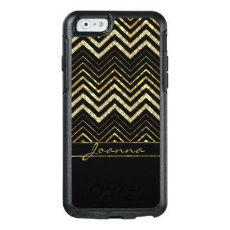 Coque OtterBox iPhone 6/6s Diamants et motif à la mode de Chevron d'or