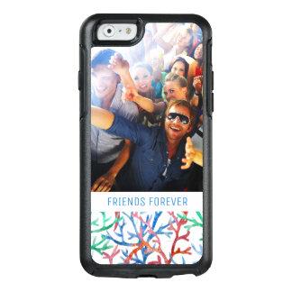 Coque OtterBox iPhone 6/6s Étoiles de mer bleues d'aquarelle | votre photo et