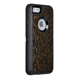Coque OtterBox iPhone 6/6s Étoiles noires de guépard de Brown