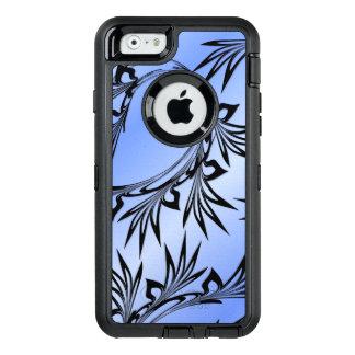 Coque OtterBox iPhone 6/6s Feuille mise en rouleau sur le bleu