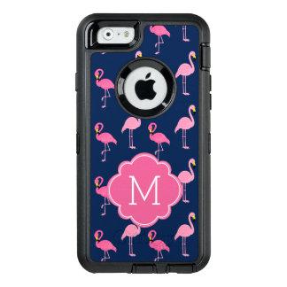Coque OtterBox iPhone 6/6s Flamants roses décorés d'un monogramme